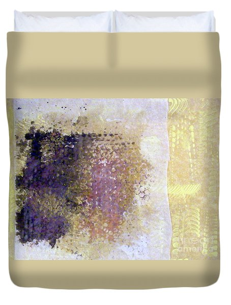 Duvet Cover featuring the mixed media Experience by Nancy Kane Chapman