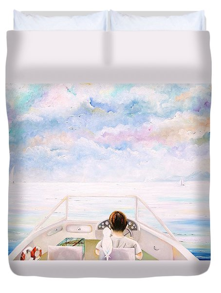 Exploring The World Duvet Cover