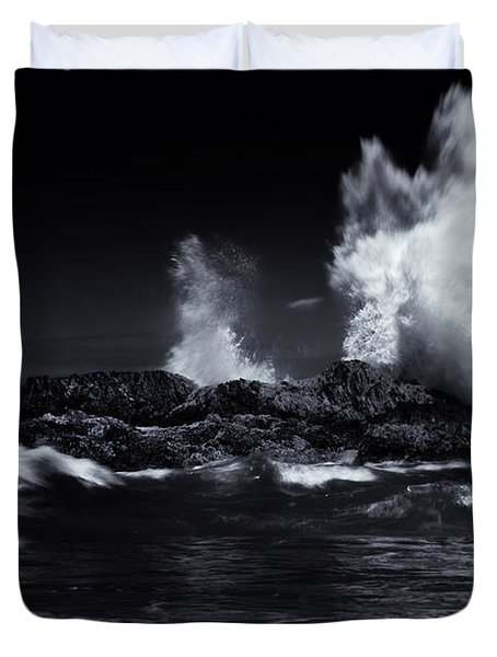 Explosion Duvet Cover by Mike  Dawson