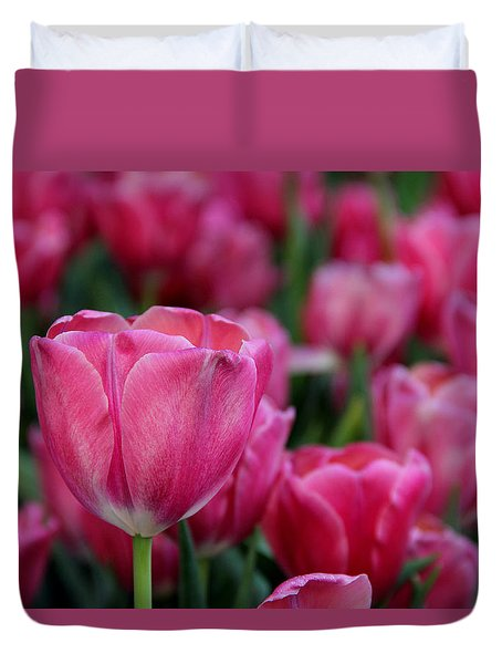 Duvet Cover featuring the photograph Explosion Of Pink by Tammy Espino