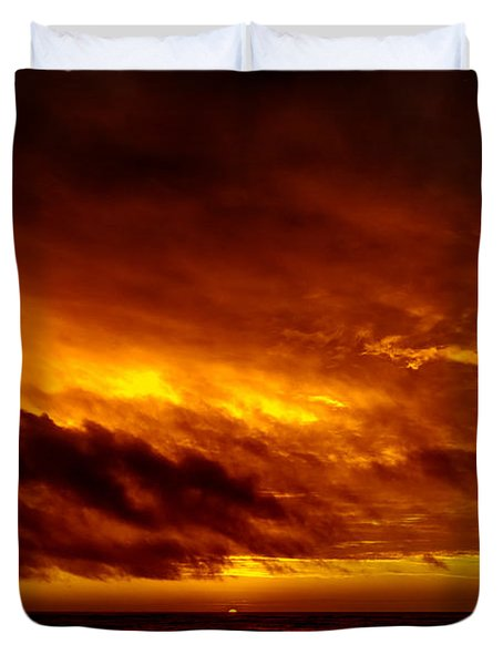 Explosive Morning Duvet Cover