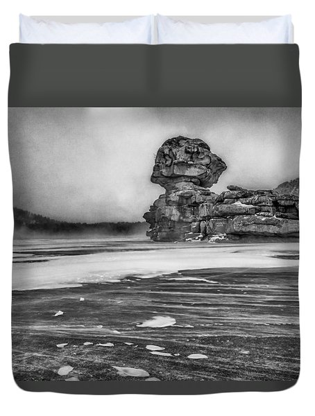 Exposed To Wind And Weather Duvet Cover