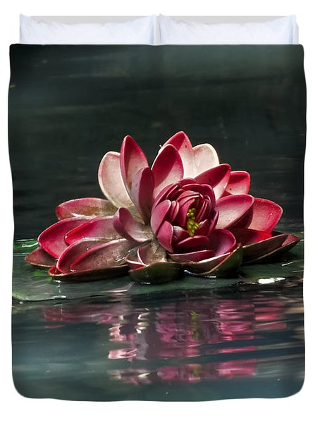 Duvet Cover featuring the photograph Exquisite Water Flower  by Lucinda Walter