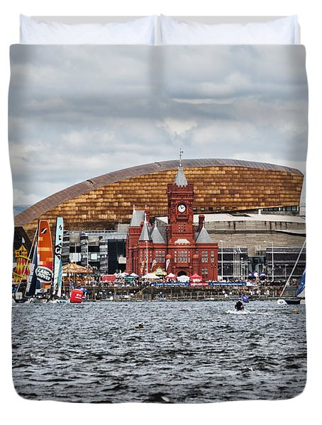 Extreme 40 At Cardiff Bay Duvet Cover
