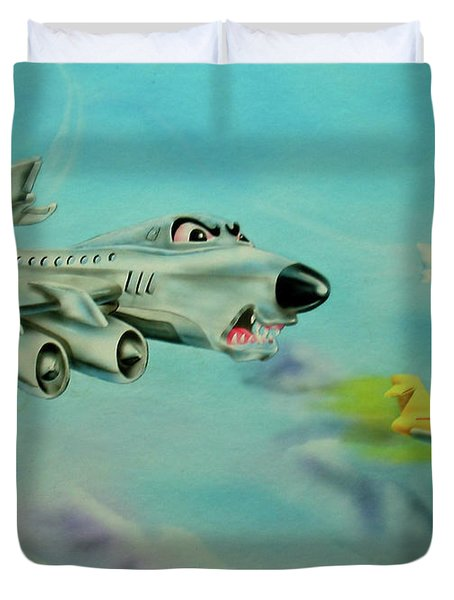 Extreme Airline Mergers Duvet Cover