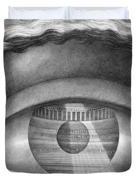 Eye Enclosing The Theatre At Besancon France Duvet Cover by Claude Nicolas Ledoux