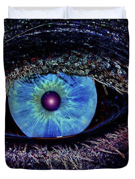 Eye In The Sky Duvet Cover by Joann Vitali