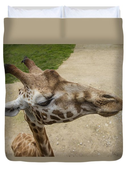 Duvet Cover featuring the photograph Eye Level. by Clare Bambers