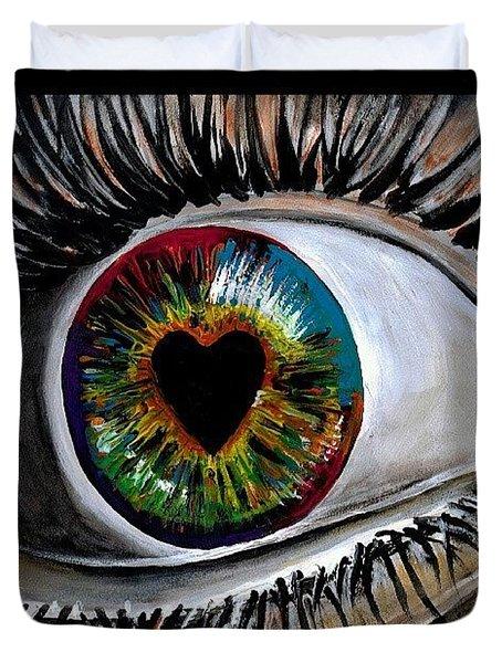 Eye Love You Duvet Cover