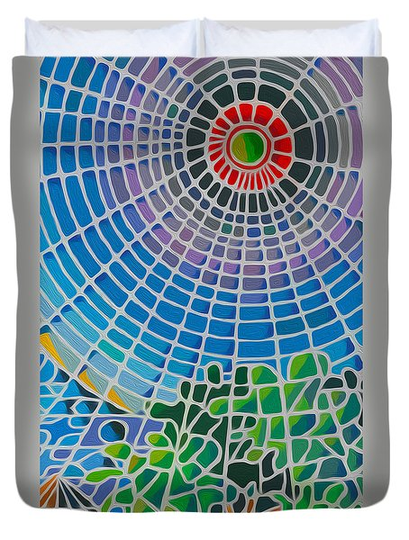 Duvet Cover featuring the digital art Eye Of God by Anthony Mwangi