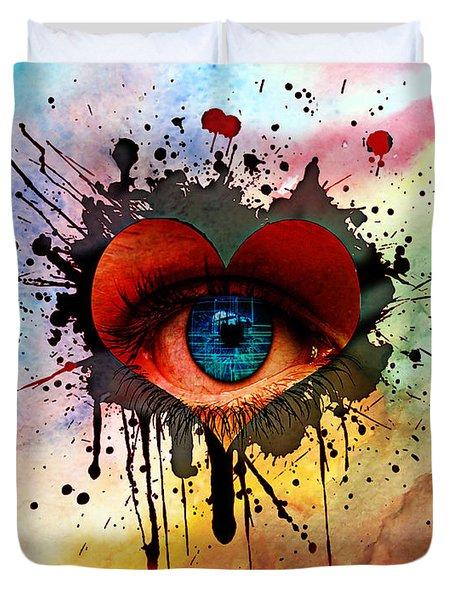 Eye Of Love Duvet Cover