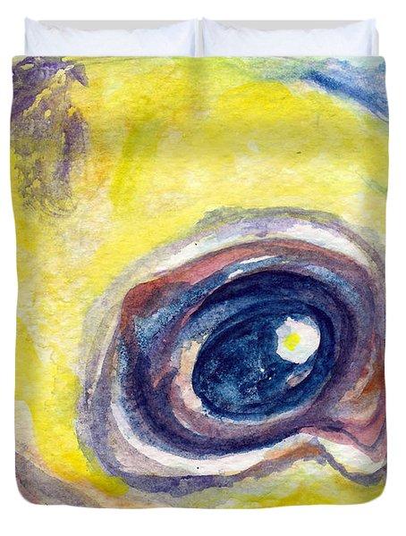 Eye Of Pelican Duvet Cover