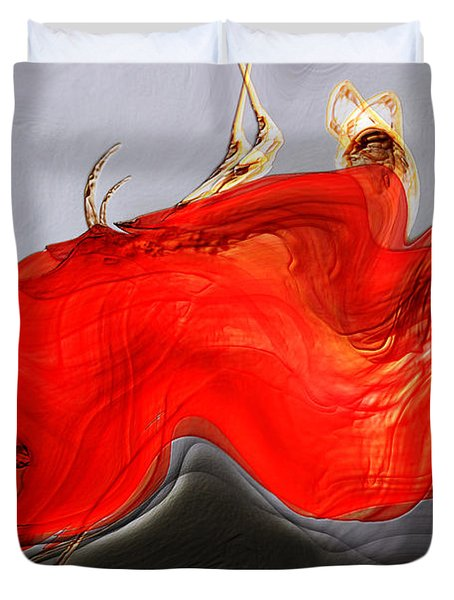 Duvet Cover featuring the digital art Eye Of The Beholder by Richard Thomas
