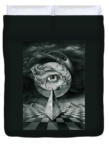 Eye Of The Dark Star Duvet Cover by Otto Rapp