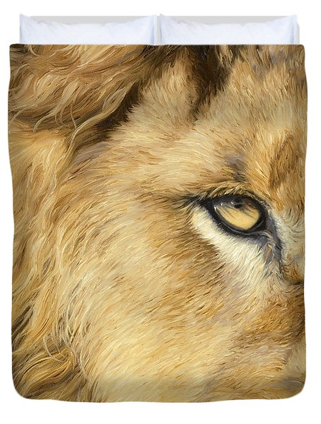 Eye Of The Lion Duvet Cover