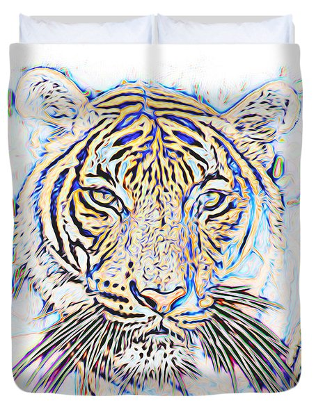 Eye Of The Tiger Duvet Cover by Ken Frischkorn