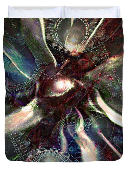 Eye Of The Universe Duvet Cover by Linda Sannuti