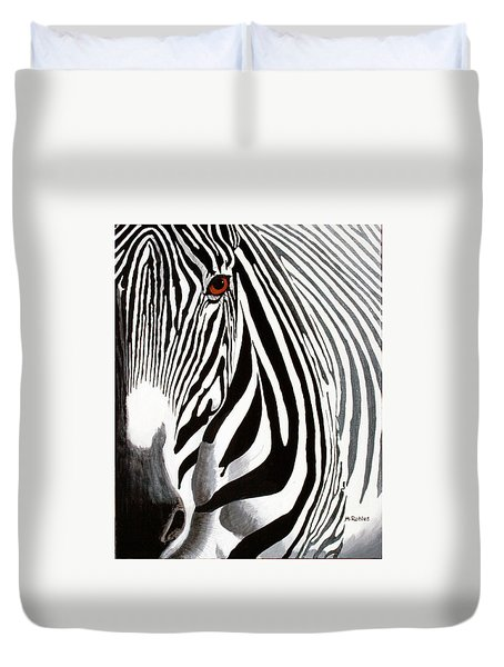 Eye Of The Zebra Duvet Cover