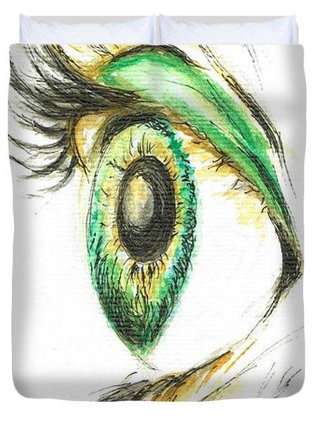 Eye Opener Duvet Cover by Teresa White