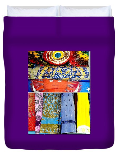 Duvet Cover featuring the photograph New Orleans Eye See Fabric In Lifestyles by Michael Hoard
