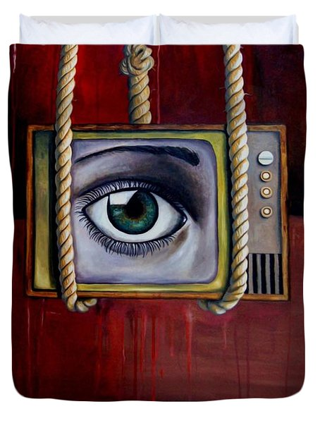 Eye Witness Duvet Cover by Leah Saulnier The Painting Maniac