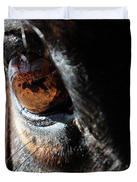 Eyeball Reflection Duvet Cover