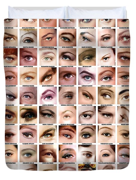 Eyes Of Hollywood - Old Era Duvet Cover by Taylan Apukovska