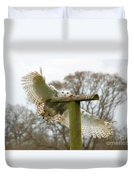 Eyes On The Prize Duvet Cover