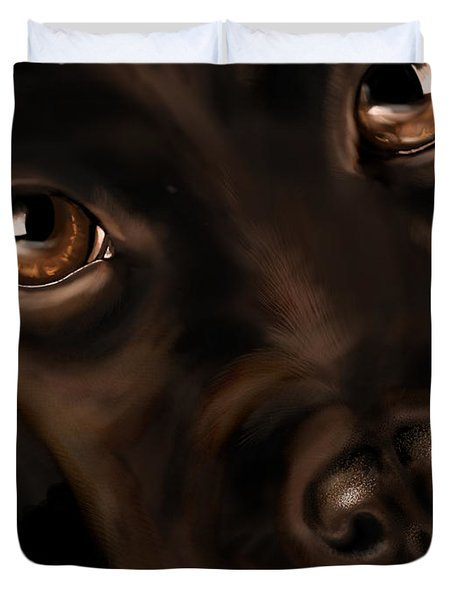 Eyes Duvet Cover by Veronica Minozzi