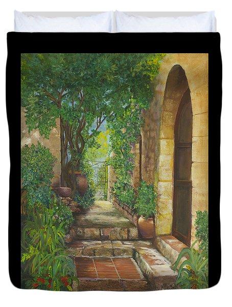 Eze Village Duvet Cover