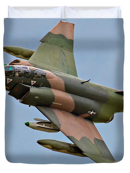 F-4 Phantom II Duvet Cover by Bill Lindsay