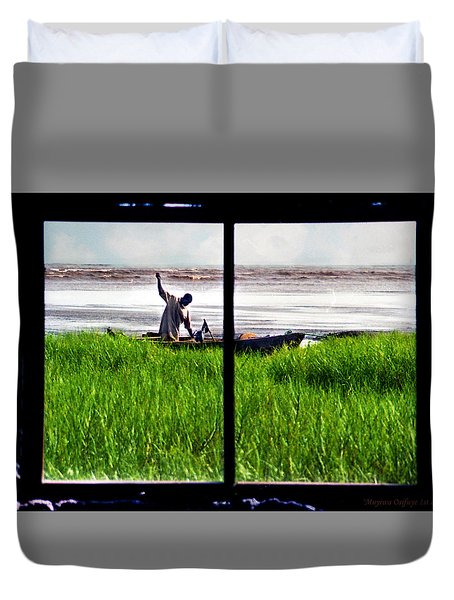 Fisherman Window Framed Duvet Cover