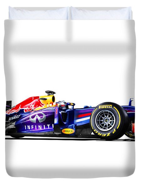 F1 Red Bull Rb9 Duvet Cover by Gianfranco Weiss