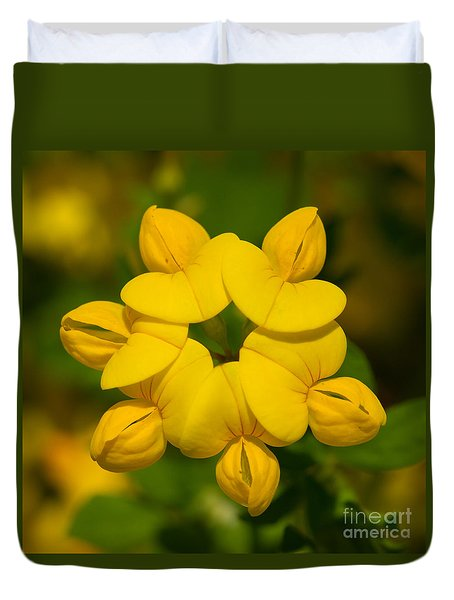 Duvet Cover featuring the photograph Fabaceae Circle by Paul Rebmann