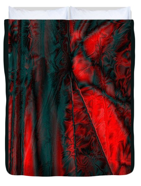 Fabric Study 01 Satin Duvet Cover by Paula Ayers