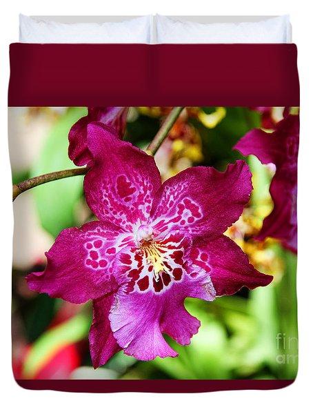 Fabulous Fushia Orchids By Diana Sainz Duvet Cover