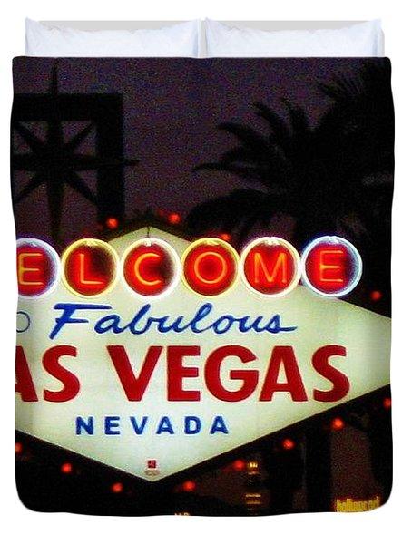 Fabulous Las Vegas Duvet Cover by John Malone