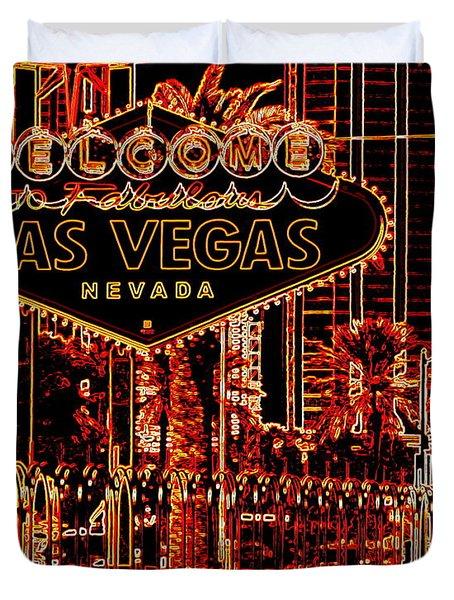 Fabulous Las Vegas Duvet Cover
