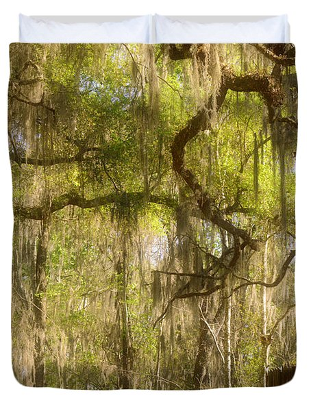 Fabulous Spanish Moss Duvet Cover by Christine Till