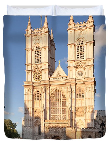Facade Of A Cathedral, Westminster Duvet Cover