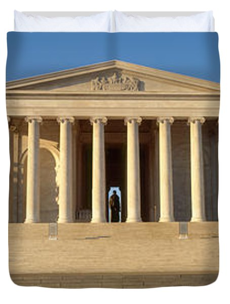 Facade Of A Memorial, Jefferson Duvet Cover by Panoramic Images