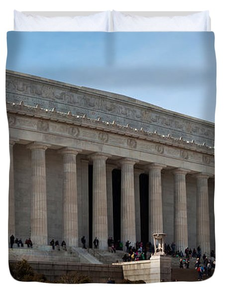 Facade Of The Lincoln Memorial, The Duvet Cover by Panoramic Images