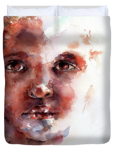 Face Of Africa Duvet Cover by Stephie Butler
