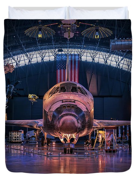 Face Of Discovery Duvet Cover