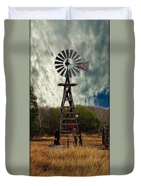 Face The Wind - Windmill Photography Art Duvet Cover