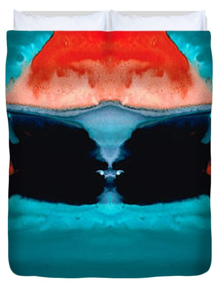 Face To Face - Abstract Art By Sharon Cummings Duvet Cover by Sharon Cummings