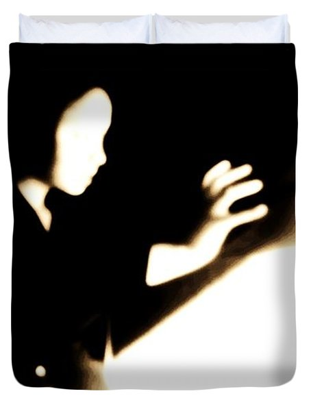 Duvet Cover featuring the photograph Faceless Magician  by Jessica Shelton
