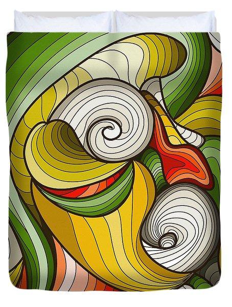 Monkey Pot Duvet Cover by Don Kuing