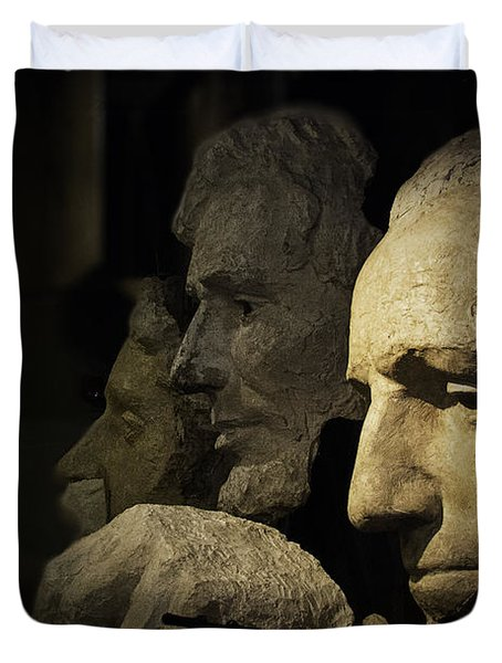 Faces Of Rushmore Duvet Cover