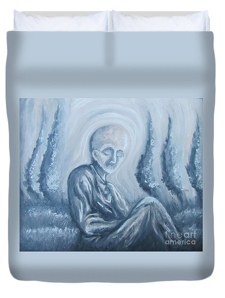 Duvet Cover featuring the painting Fade Away by Michael  TMAD Finney